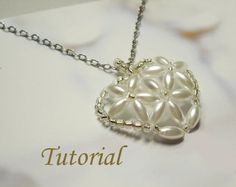 Beading Tutorial  Beaded Hydrangeas Pendant
