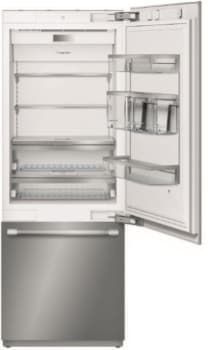 Thermador T30IB900SP 30 Inch Built-In Bottom Mount Refrigerator with LED Theater Lighting, ThermaFresh System, Diamond Ice Maker, Delicate Produce Bins, Open Door Assist, Freedom® Hinge, SoftClose® Drawers, SoftClose® Bins, Control Panel and Carbon Air Filter: Panel Ready