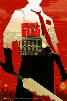 Minimalist Movie Poster Shaun Of The Dead By Big Bad Robot Im A Big Fan Of Zombie Movie This One Is Hilarious