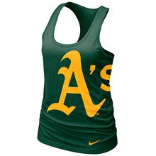 Oakland Athletics Womens Loose Fit Racerback Tank by Nike