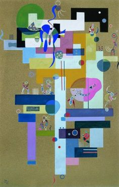 """Contrasts"" by Wassily Kandinsky, 1937"