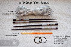 Outlier DIY | Metallic Crochet Bracelet Diy Bracelet, Crochet Bracelet, Bracelets, Jewelry Patterns, Jewelry Ideas, Diy Jewelry, Crochet Needles, Knitting Needles, Crochet Accessories