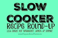Ummm...SWOON!  Over 1200 recipes for the slow cooker!