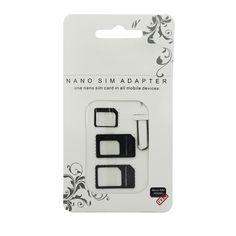 2016 adaptador de tarjeta sim nano 4 en 1 micro sim con punta para extracción clave paquete al por menor para iphone 5/5s/6/6 s/samsung