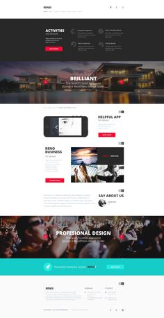 RENO/ Modern Template by entiri , via Behance
