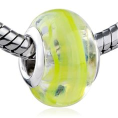 Pugster Murano Glass Bead Yellow Stripes Fit Pandora Bead Charm Bracelet Pugster. $12.49. Size (mm): 9.81*14.03*14.03. Note: Snake chain is not included. Weight (gram): 2.45. Metal: murano glass. Color: yellow