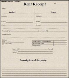 Examples Of Rent Receipts Free House Rental Invoice  House Rent Receipt Sample