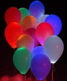 Do It Yourself Glow Balloons .... interesting... and easy to do! .... now we have more ideas for our night club!
