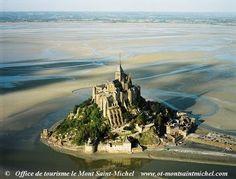Mont Saint-Michel at low tide