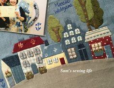 """今年八月份我有幸参加日本拼布大师,若山雅子老师的一日研习课程,主要学习的是如何应用""""贴布缝棒""""和纸衬,还有布用口红胶来轻松制作贴布缝。虽然只是短短的一日课程,但真的获益良多。 Diy And Crafts, Paper Crafts, Embroidery Leaf, Japanese Bag, Fabric Journals, House Quilts, Doll Quilt, Quilted Bag, Journal Covers"""