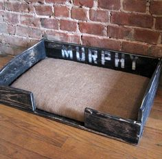 cool idea for a dog bed