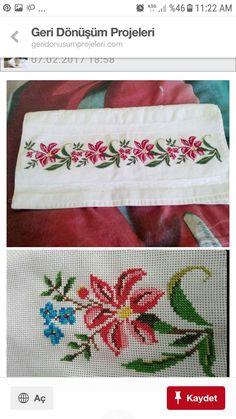Barbara R.'s media analytics. Cross Stitch Flowers, Cross Stitch Patterns, Craft Patterns, Cross Stitching, Bag Storage, Hand Embroidery, Crochet, Design, Cross Stitch Borders