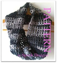 Easy Crochet, Beginner Crochet, Crochet Scarf For Beginners, My Etsy Shop, Trending Outfits, Unique Jewelry, Handmade Gifts, Infinity, Pattern