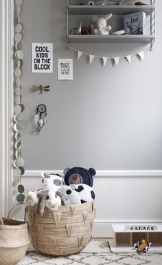beautiful grey tones in kids room