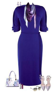 Blue & violet by julietajj on Polyvore featuring polyvore fashion style Karen Millen Swarovski Leona Lengyel clothing