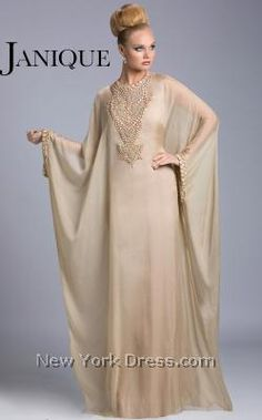 If anyone could pull off a caftan, my mommy could! Janique JQ3402 - NewYorkDress.com