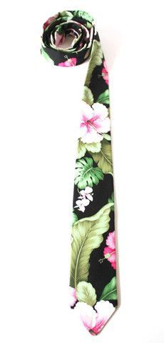 Floral Hawaiian Print Necktie Handmade by Lord Wallington / Gifts For Him / Gifts For Men / Christmas Gifts For Men / Mens Ties on Etsy, $55.00
