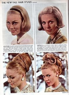 The New Fall Hairstyles, 1964.(via)