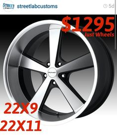 62cc7b11ab9 STREETLAB CUSTOMS   call (850) 490-0512 for wheel and tire package deals…