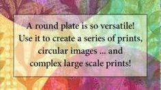 "Gelli printing with the 8"" round gelli plate. Gelli Arts - YouTube"