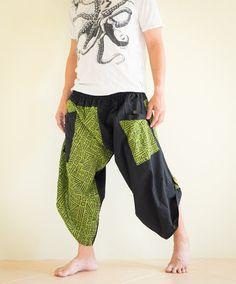 Samurai Pants Ninja Pants Harem Pants Unisex by AmazingThaiStore