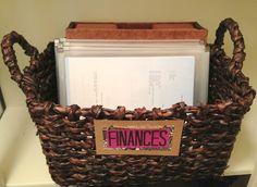 the weekend organizer {finance + bill organization} | Fabulously Organized Home