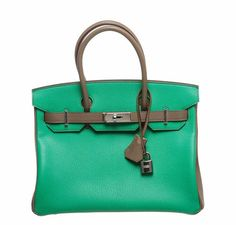 small brown handbag - Hermes SO Horseshoe Stamped Bi-Color Tosca and Gris Perle Togo ...