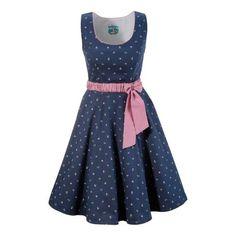 TURI LANDHAUS Trachtenkleid mit modischem Blumenprint blau