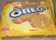 Nabisco Limited edition gingerbread flavored cream Oreo sandwich cookies