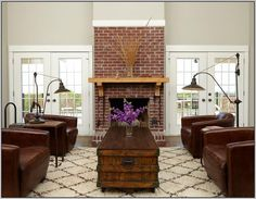 Painting Red Brick Fireplace More