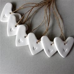 Mini Embossed Heart Tags  Gift Tags by RedPunchBuggyonEtsy on Etsy, $10.00