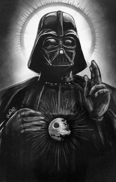 St. Vader, Dart Vader as a Saint, Star Wars illustration