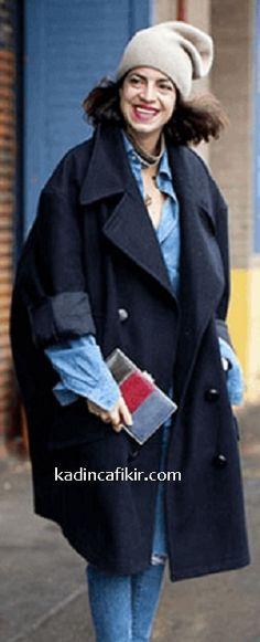 Yeni sezon kış modası koyu renk lacivert kumaş oversized kadın kaban modeli | Kadınca Fikir - Kadınca Fikir Women's Clothing, Style, Fashion, Women's Clothes, Swag, Moda, Fashion Styles, Fasion