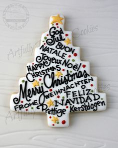 Christmas Tree Project by Artfully Delicious Cookies, via Flickr