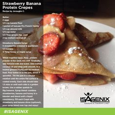 These Strawberry Banana Protein Crepes are perfect for a Saturday morning breakfast!