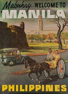 Read More About 1960s Manila Philippines vintage travel poster... #VintageVacation #VintageDestination