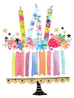 Leading Illustration & Publishing Agency based in London, New York & Marbella. Happy Birthday Wishes Cards, Happy Birthday Quotes, Happy Birthday Images, Birthday Clipart, 21 Birthday, Sister Birthday, Birthday Cake, Happy B Day, Birthdays