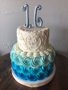 Sweet 16 Cakes, Desserts, Food, 16th Birthday Cakes, Tailgate Desserts, Deserts, Meals, Dessert, Yemek