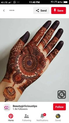 Henna Palm Designs, New Bridal Mehndi Designs, Full Mehndi Designs, Palm Mehndi Design, Finger Henna Designs, Stylish Mehndi Designs, Mehndi Designs For Girls, Mehndi Designs For Beginners, Mehndi Design Photos