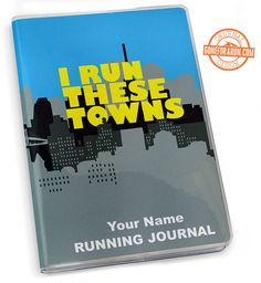 Keep track of all the towns you run with this I Run These Towns Running Journal!