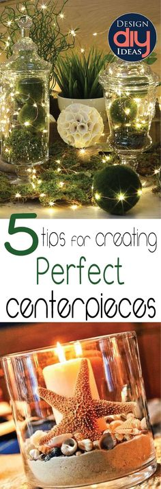 Hosting a party?  Learn tips to create the perfect centerpieces.