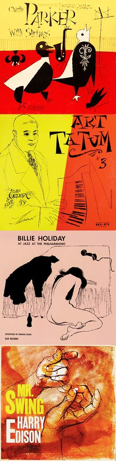David Stone Martin Jazz album covers