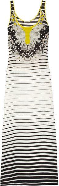 Printed Silk Crepe De Chine Maxi Dress - Lyst