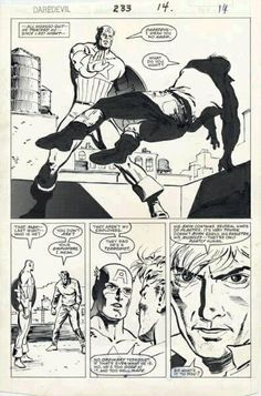 David Mazzucchelli Daredevil 233 Comic Art