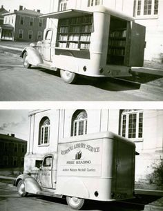 Bookmobile of the Regional Library Service in northern Alabama, serving Jackson, Madison, and Marshall Counties. 1930s - 1940s  (Collection of Alabama Dept. of Archives and History)