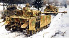 Panzer IV y Sherman, en la Batalla de las ardenas.