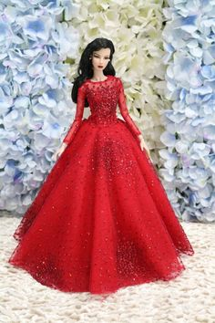 Gown-Outfit-Dress-Fashion-Royalty-Silkstone-Barbie-Model-Doll-FR  BY T.D 8/6/3 #FashionRoyalty #ClothingAccessories