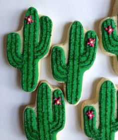 Cactus Cookies  1 Dozen by hellobakery on Etsy, $26.00