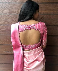 Top 30 Latest And Trendy Blouse Designs For Back Neck Here are the latest 30 blouse design for back neck that is impeccably immaculate and you can certainly opt for these or customize them as per your choice. Blouse Back Neck Designs, Cutwork Blouse Designs, Pattu Saree Blouse Designs, Simple Blouse Designs, Stylish Blouse Design, Bridal Blouse Designs, Pink Blouse Design, Latest Blouse Designs, Indian Blouse Designs