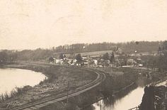 Early view of Brookville, Delaware Twp., with the Delaware River, the Bel-Del Railroad, and the D&R Canal. Delaware River, What It Takes, 19th Century, History, Water, Illustration, Outdoor, Gripe Water, Outdoors
